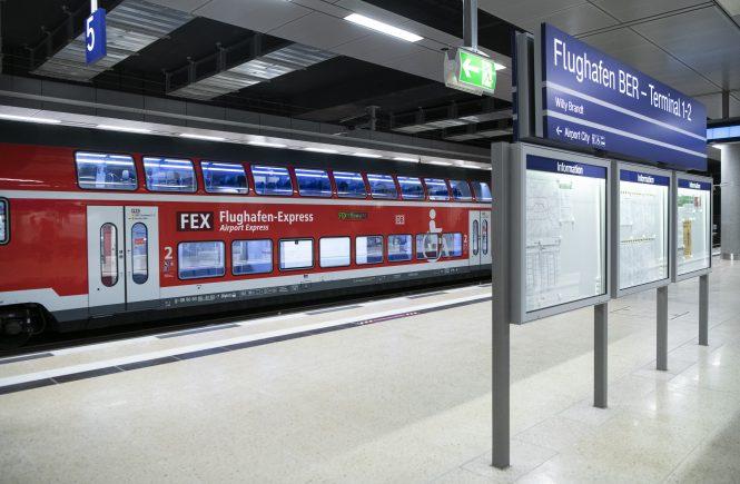 Flughafen BER mit der Bahn erreichbar