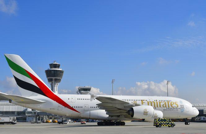 Emirates-Flaggschiff A380 kehrt nach München zurück
