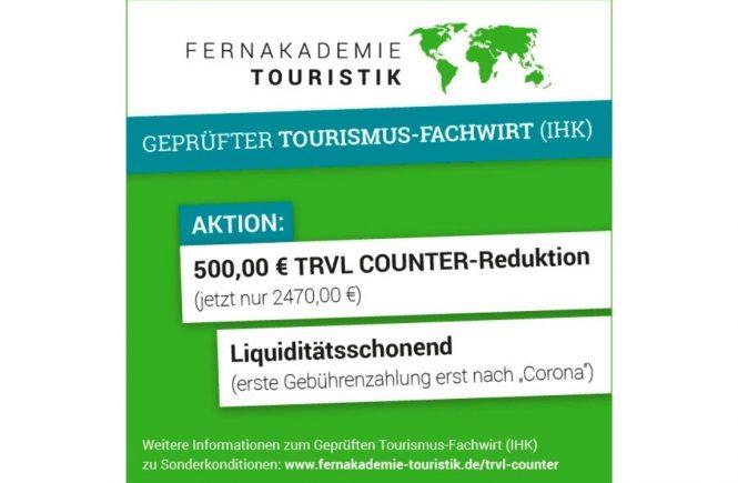 Fernstudium Tourismus-Fachwirt bei der FernAkademie Touristik zu Sonderkonditionen!