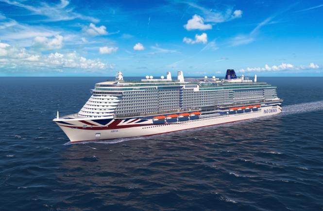 Zweites LNG-Schiff Arvia von P&O Cruises