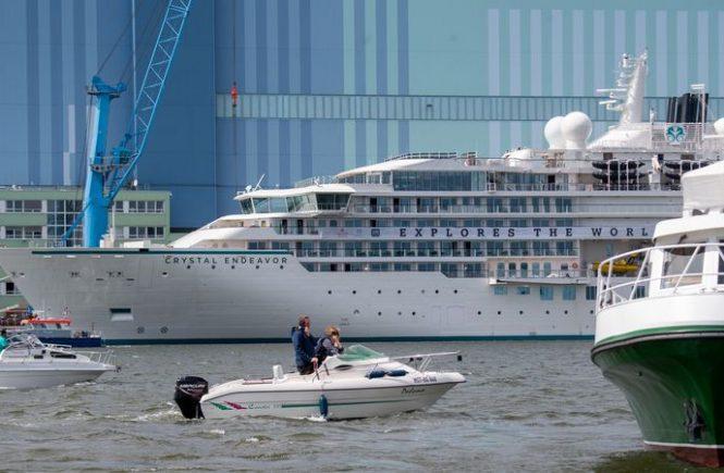 Expeditionsschiff «Crystal Endeavor» verlässt Werft
