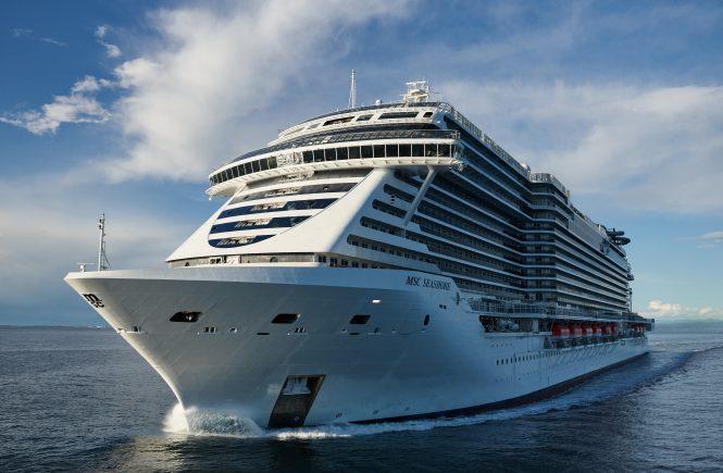 Die MSC Seashore startet erste Kreuzfahrt im Mittelmeer